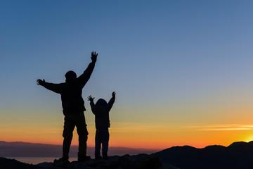 baba oğul zirvede gündoğumu başarısı