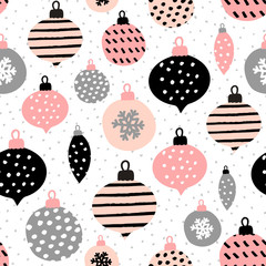 Wall Mural - Seamless Christmas Pattern