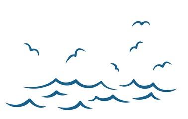 Море с чайками.