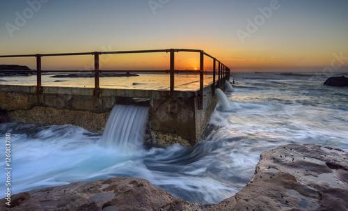 Sunrise at Tidal pool in North curl curl. Sydney, Australia