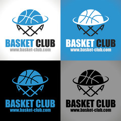 logo ballon panier basketball basket club