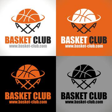 logo basketball basket club ballon panier