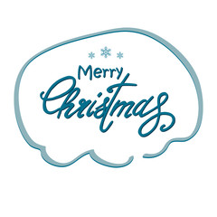 Greeting Christmas lettering