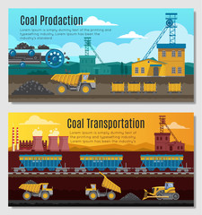 Coal Production Banners Set