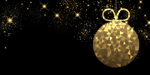 New Year background with Christmas ball.
