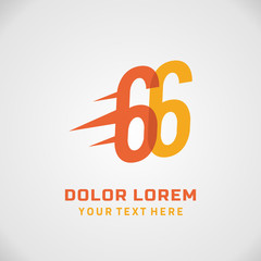 Number sixty six 66 Logo