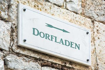 Schild 117 - Dorfladen