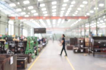 Blurred or defocused manufacturing factory