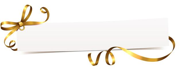 Karte mit Schleifenband Gold- Vorlage