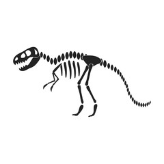 Tyrannosaurus rex icon in black style isolated on white background. Museum symbol stock vector illustration.