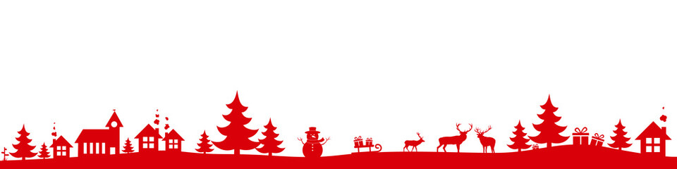 Papiers peints Blanc Christmas landscape