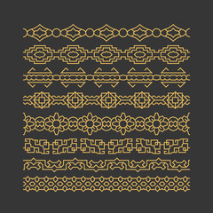 Wall Mural - Chinese border ornaments vector patterns
