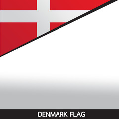 Denmark flag design illustration