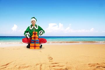 elf and beach