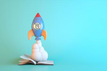 3D Render,Space shuttle taking off