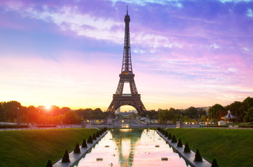 Paris, Sunrise on Eiffel Tower