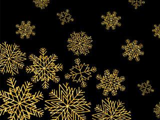 GOLDEN GLITTER SNOWFLAKES CHRISTMAS BACKGROUND 1