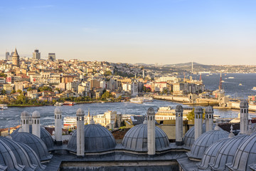 view of the Istanbul bosphorus from historical peninsula hill