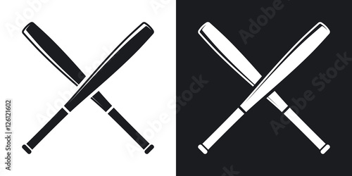 Baseball bat vector black