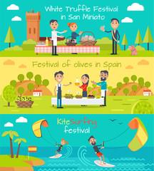Spain Entertainment Festivals Holidays. Vector