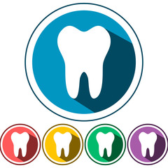 tooth icon flat design