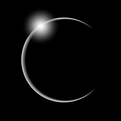 black and white solar eclipse
