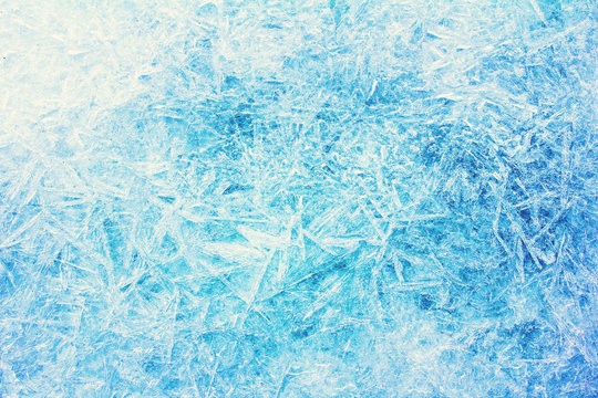 Rime, frost, ice texture