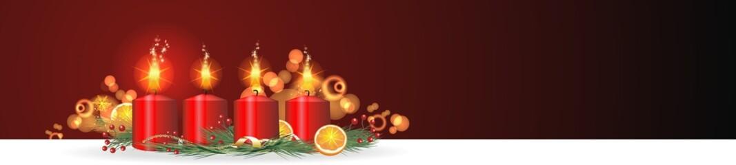 weihnachtlicher Hintergrund mit Kerzen
