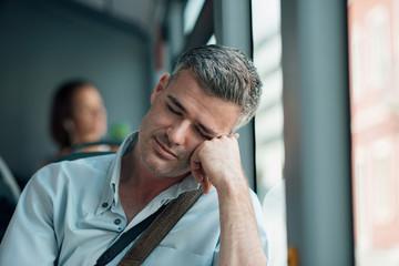 Hasil gambar untuk photo people sleeping in the bus
