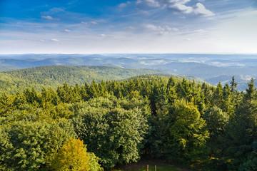 Thüringer Wald - Blick vom Adlersberg Turm