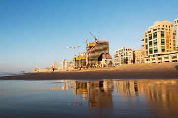 Mediterranean coast at Tel Aviv, Israel.