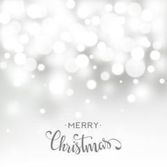 Christmas card with bokeh