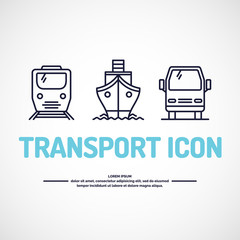Vector icons transport.