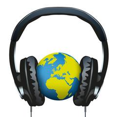 Casque Audio - Information - Terre - communication