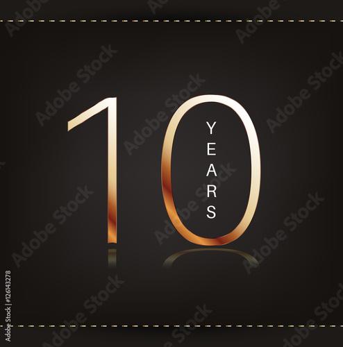 Ten Years Anniversary Banner 10th Anniversary Logo Stock Image