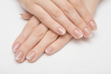 Foto op Canvas Manicure Nail Polish. Art Manicure. Multi-colored Nail Polish. Beauty hands. Stylish Colorful Nails