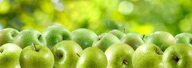 image of green apples close-up