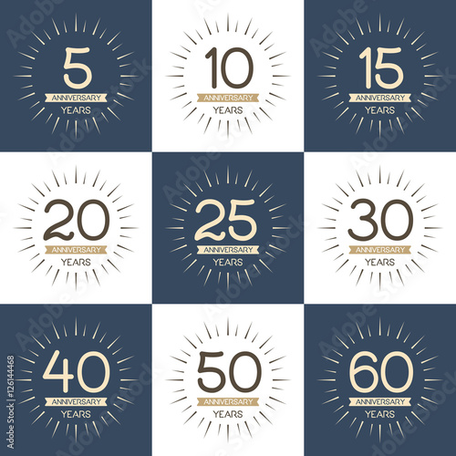 Of anniversary signs symbols 5 10 15 20 25 30 40 50 60 years