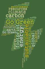 Go Green word cloud