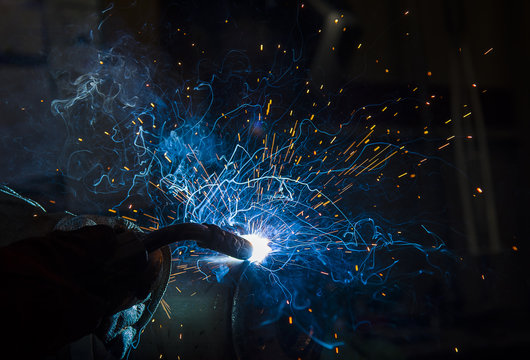 argon welding splatter