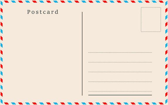 Vintage postcard. Vector design.