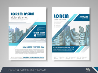 Presentation flyer design template