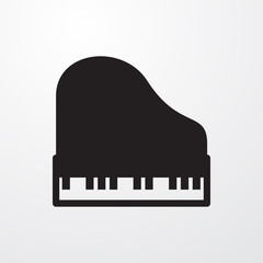 piano icon illustration