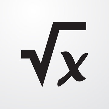 square root icon illustration