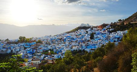vistas de chefchaouen el conocido pueblo azul de marruecos