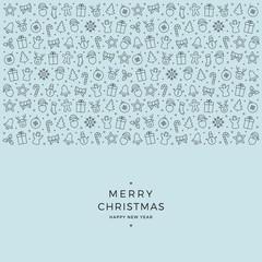 christmas element icons black blue background