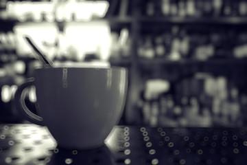 blurred background interior bar restaurant