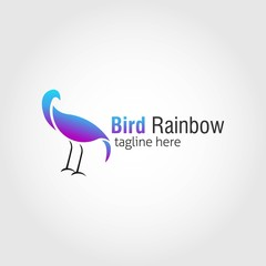 Bird Logo Design template. Vector Illustration