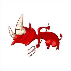 Cartoon red demon