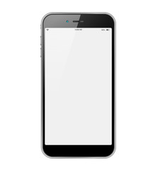 Isolated and realistic smartphone
